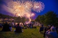 Feuerwerk in Britzer Garten