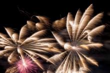 Buntes und grandioses Feuerwerk