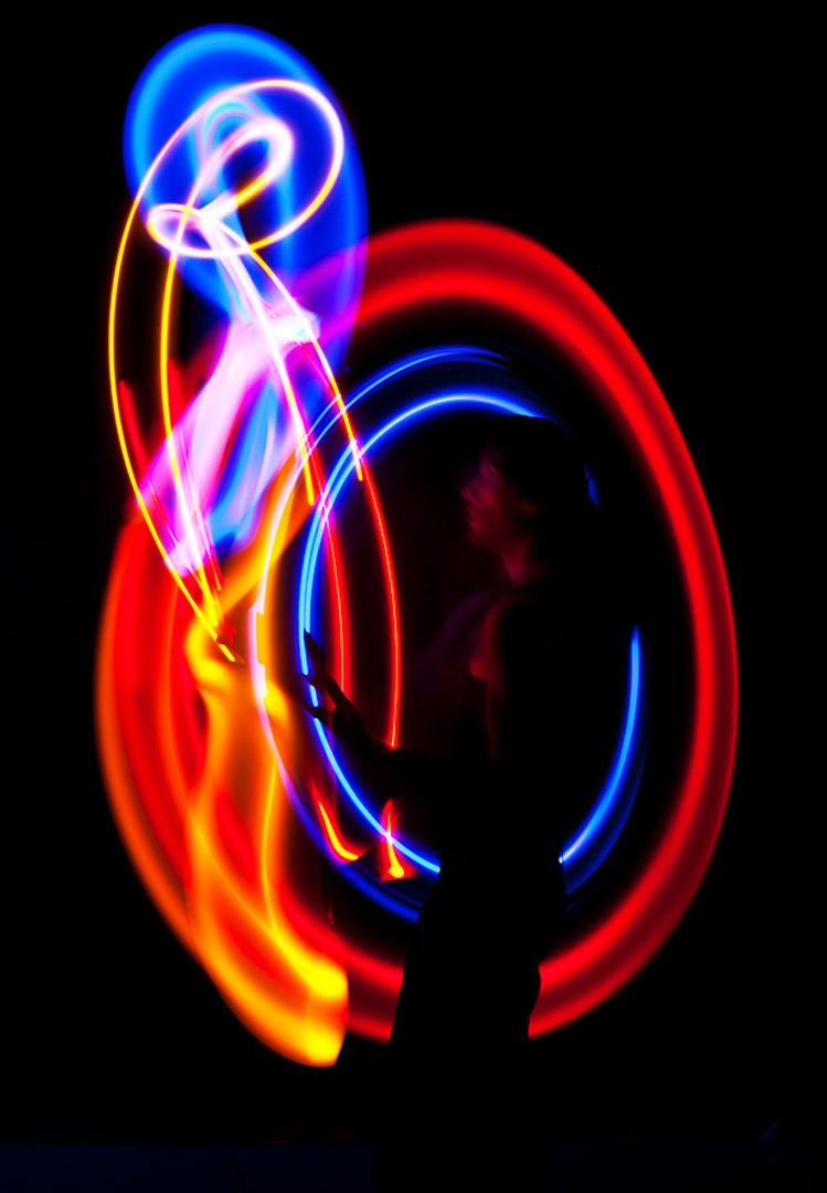 Leuchtjonglage